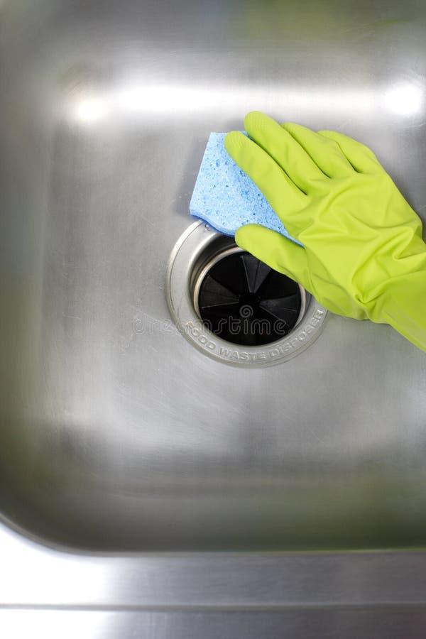 Reinigungs-Küche-Wanne stockbilder
