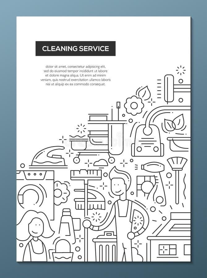 Reinigungs-Nebengleisdesignbroschüren-Plakatschablone A4 vektor abbildung