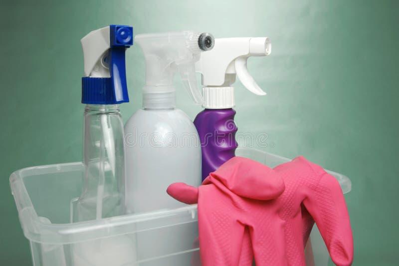 Reinigungs-Produkte stockfotos