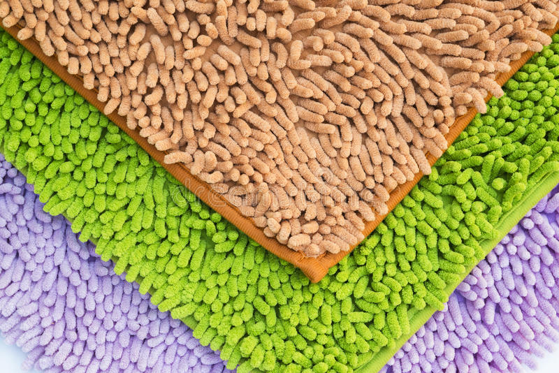 Reinigungsfüße Fußmatte oder Teppich für sauberes Ihre Füße stockbild