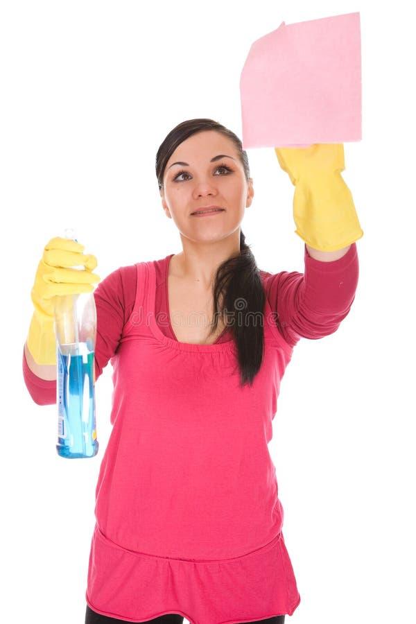 Reinigungsfrau stockfotografie