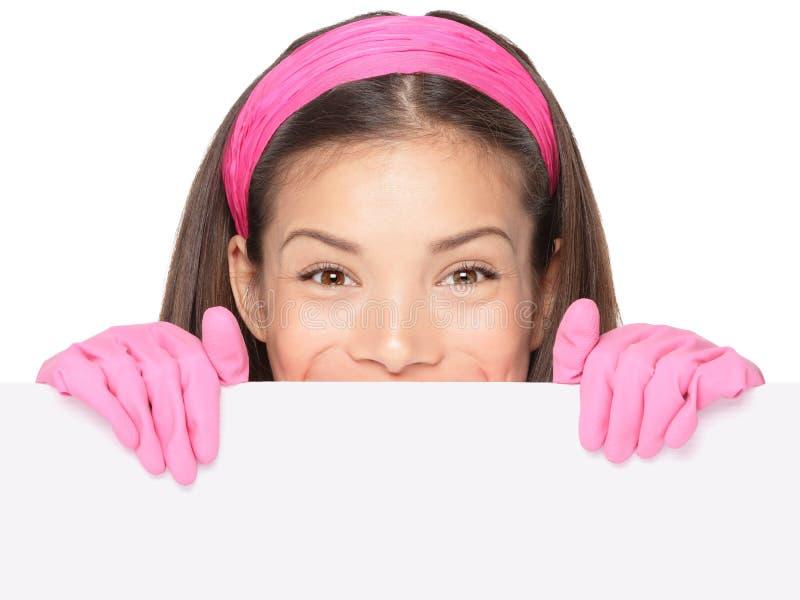 Reinigungsfrauenzeichen lizenzfreie stockfotos