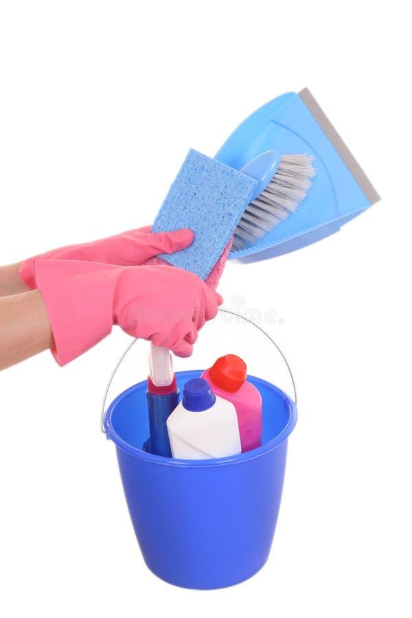Reinigungshaus stockfoto