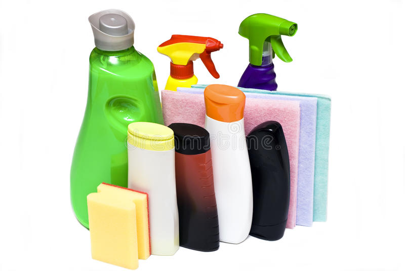 Reinigungshilfsmittel stockbild
