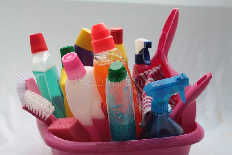 Reinigungshilfsprogramme stockfoto