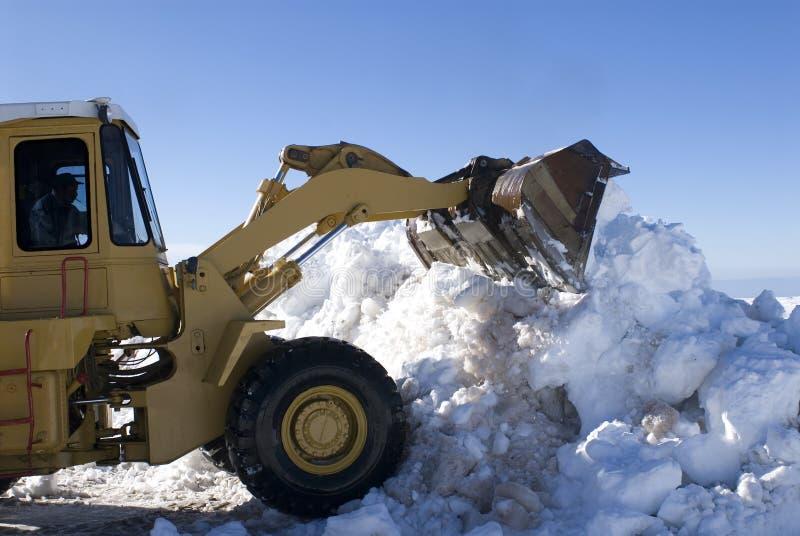 Reinigungsmaschine, zum des Schnees zu bilden stockbild