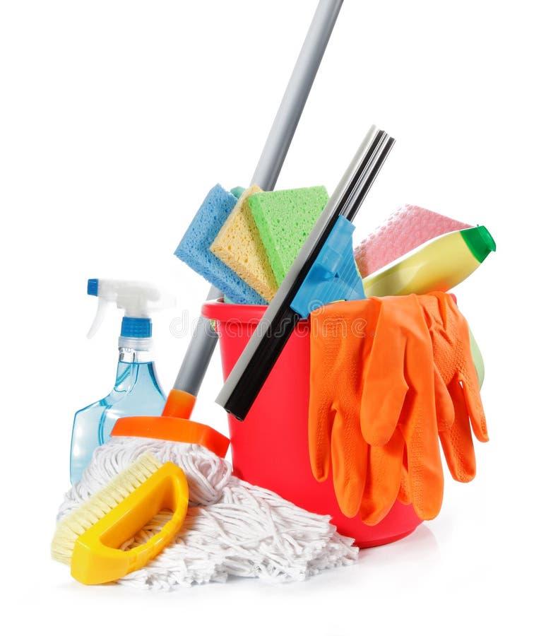 Reinigungsprodukte lizenzfreie stockbilder