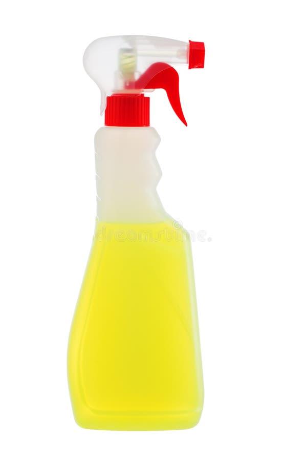 Reinigungsreinigungsmittel oder -entfettungsmittel in der Plastikflasche lokalisiert auf wh stockfoto