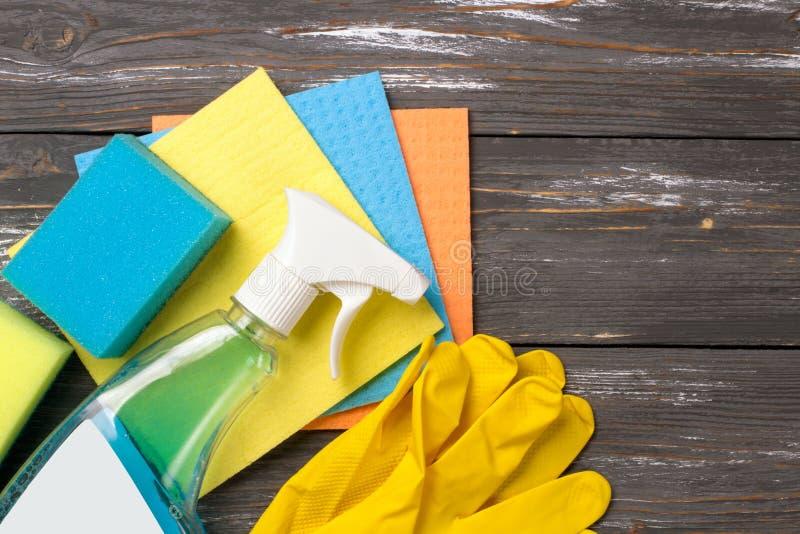 Reinigungssatz Frühling räumen auf lizenzfreie stockbilder