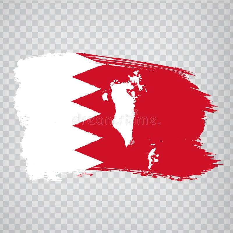Reino de la bandera de Bahrein de movimientos del cepillo y del mapa en blanco de Bahrein Mapa de alta calidad Bahrein y bandera  libre illustration