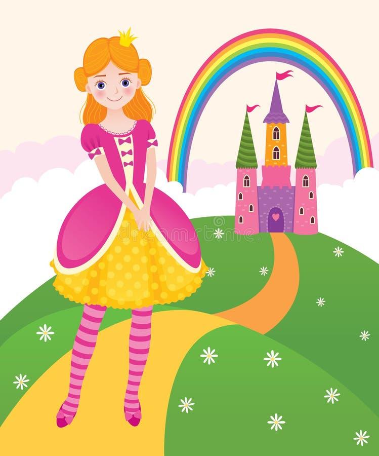 Reino de la hada de la princesa stock de ilustración
