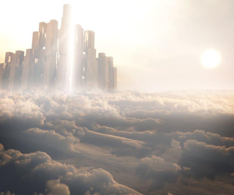 Reino en las nubes stock de ilustración