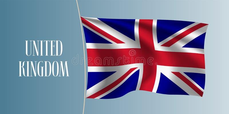 Reino Unido da ilustração de ondulação do vetor da bandeira de Grâ Bretanha ilustração stock