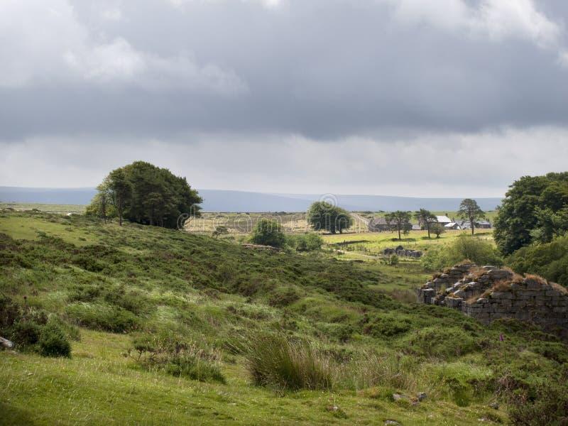 Reino Unido, Devon, Dartmoor, molinos del polvo cerca de Postbridge fotografía de archivo