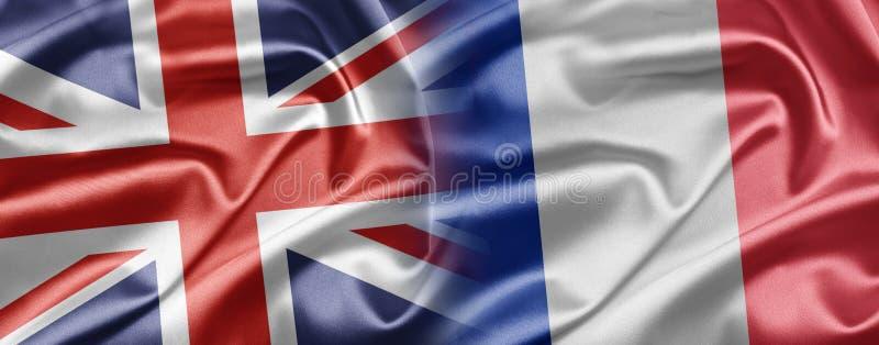 Reino Unido e France fotografia de stock royalty free