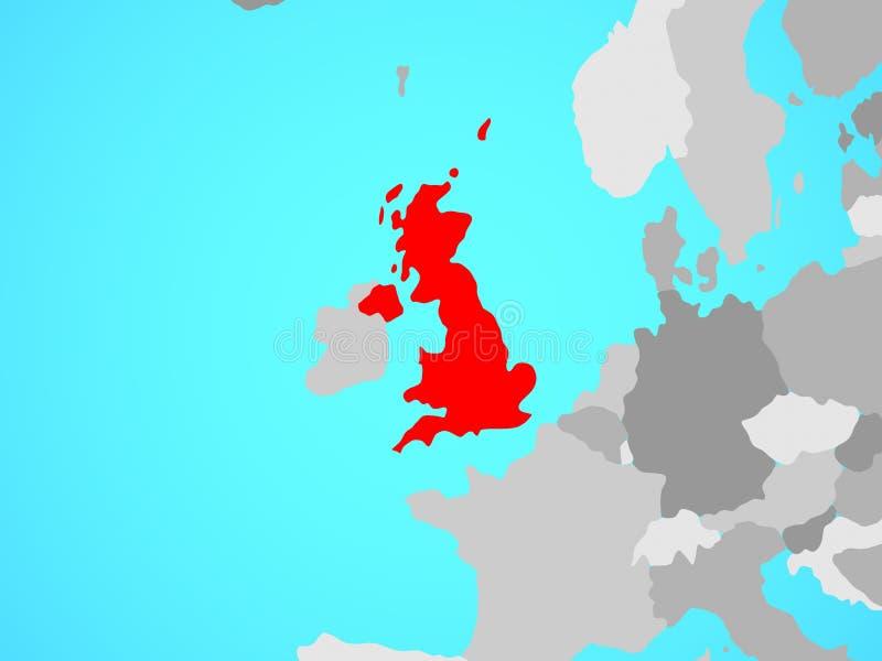 Reino Unido en correspondencia libre illustration