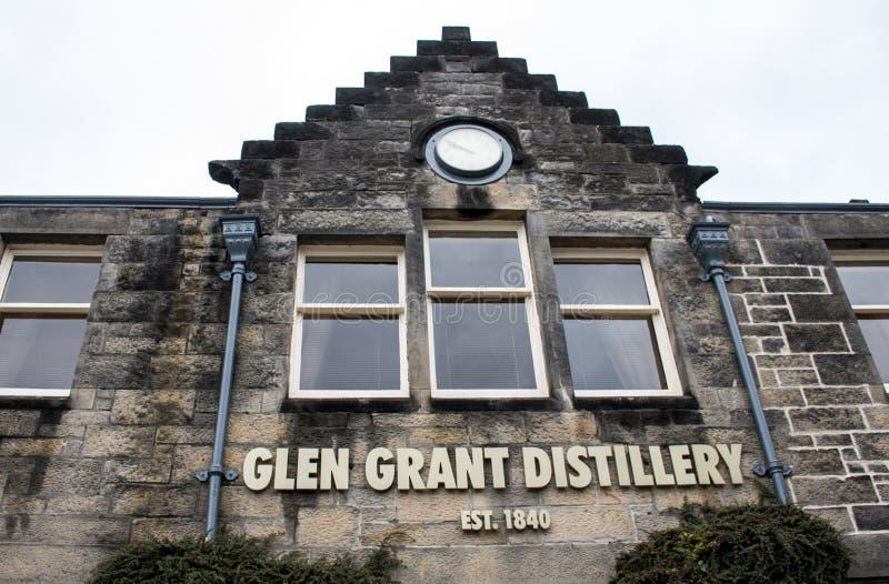 Reino Unido, Escócia 17 05 Produção 2016 da destilaria do uísque de Glen Grant Speyside Single Malt Scotch fotos de stock