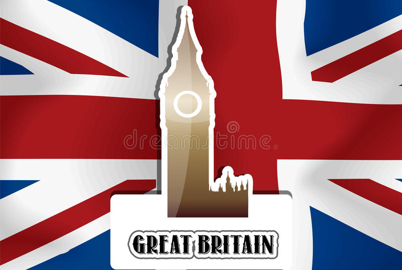 Reino Unido, Grâ Bretanha, ilustração ilustração stock