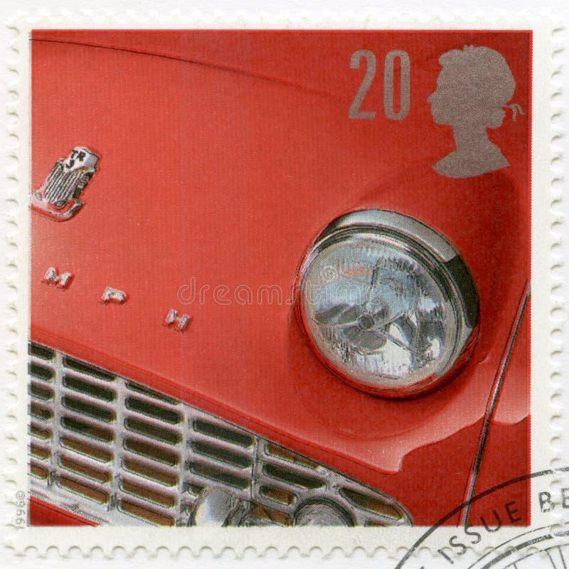 REINO UNIDO - 1996: mostras Triumph TR3 1955, carros de esportes britânicos clássicos da série foto de stock royalty free