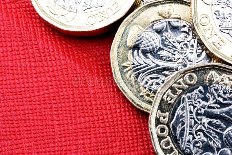 Reino Unido novo uma moeda da moeda de libra imagem de stock royalty free