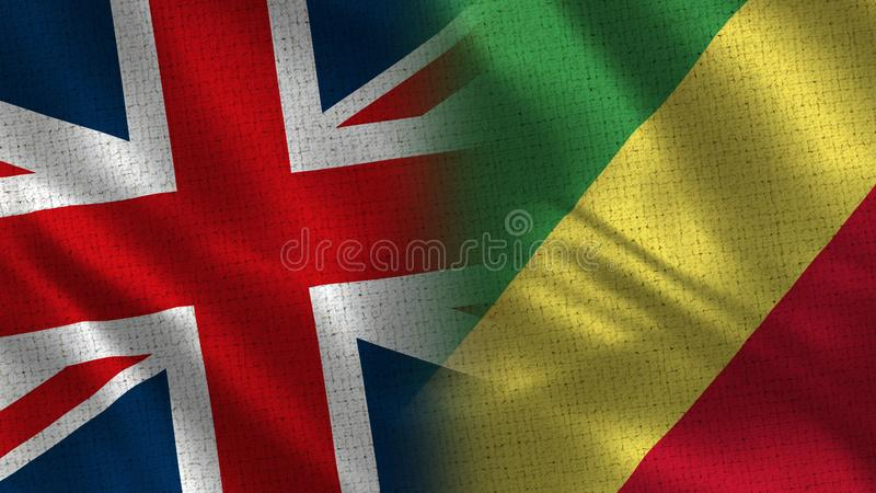 Reino Unido y el República del Congo imagenes de archivo