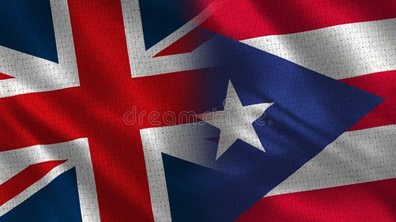 Reino Unido y Puerto Rico imagen de archivo libre de regalías