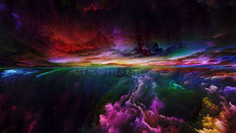 Reinos da paisagem abstrata ilustração do vetor