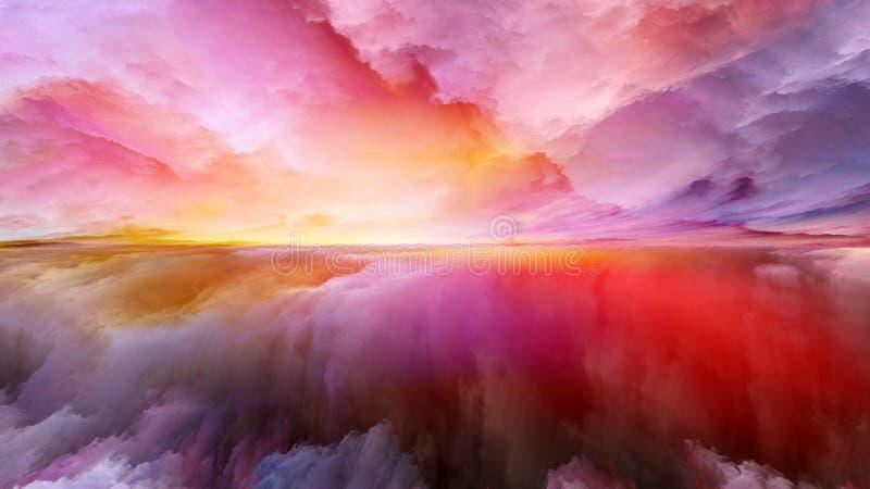 Reinos da paisagem abstrata ilustração royalty free