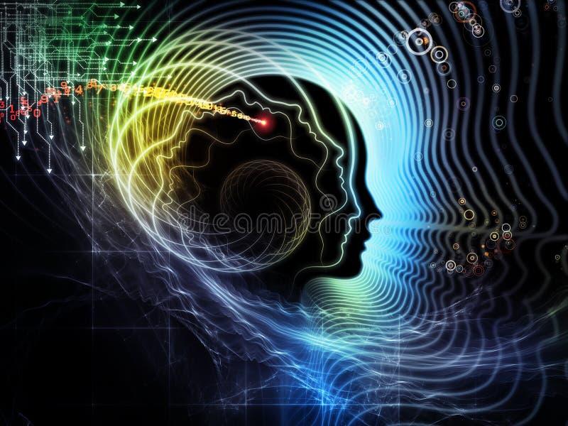 Reinos de la mente humana stock de ilustración
