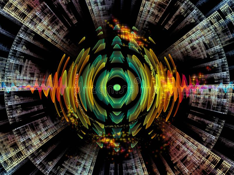 Reinos de la oscilación radial stock de ilustración