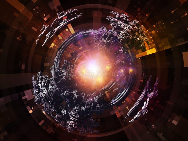 Reinos de rayos radiales libre illustration