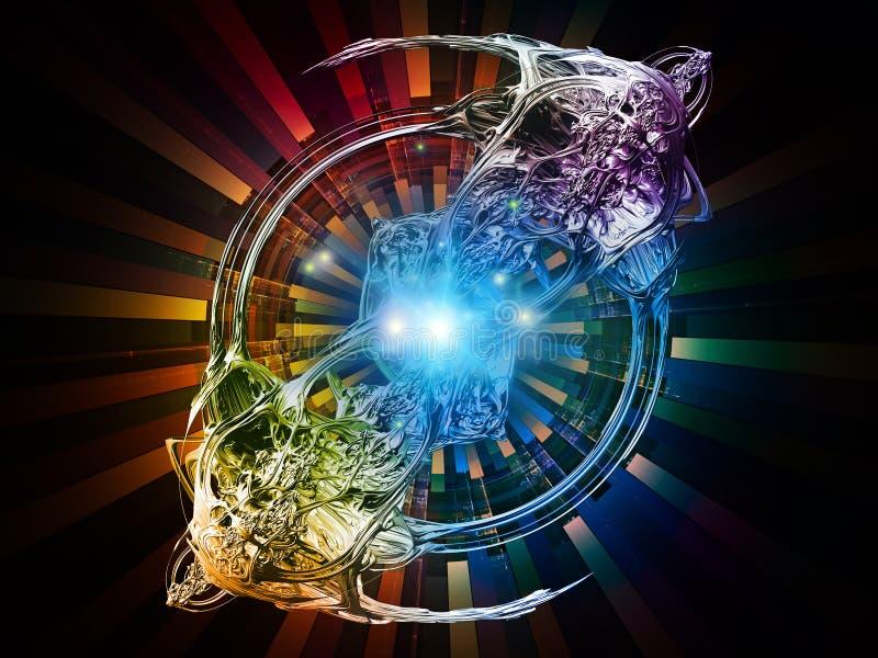 Reinos de rayos radiales stock de ilustración