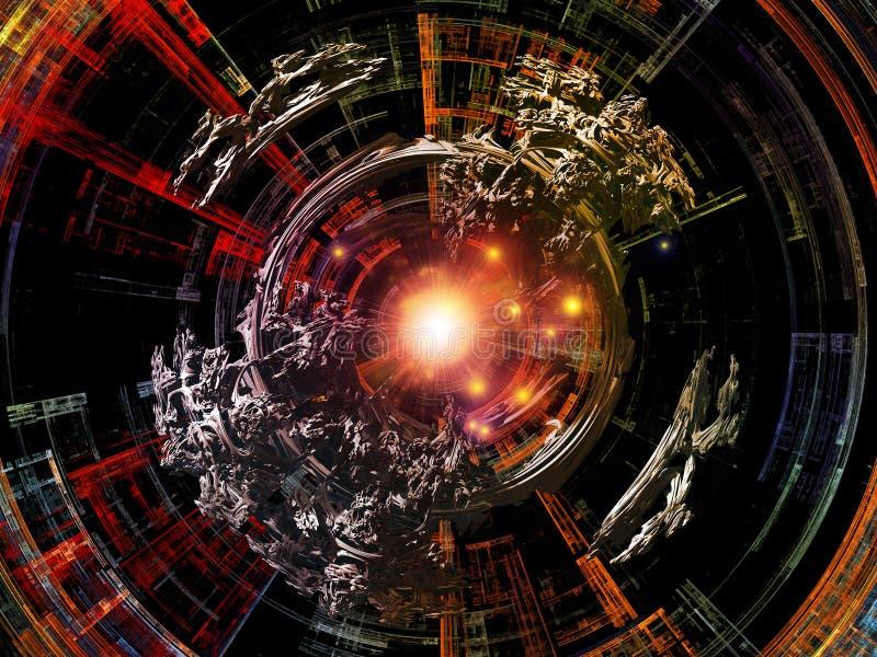Reinos de rayos radiales ilustración del vector