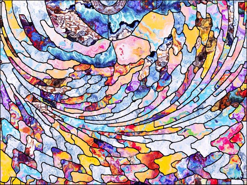 Reinos del vidrio plomado stock de ilustración