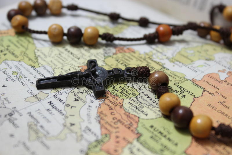 Reinos do catolicismo sobre Europa fotos de stock royalty free