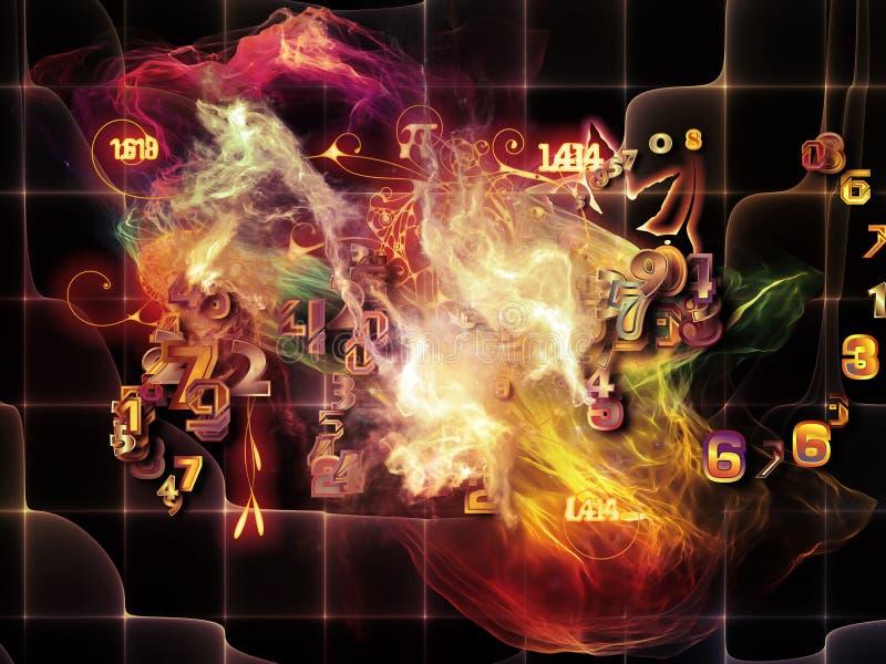 Reinos do visualização da matemática ilustração do vetor