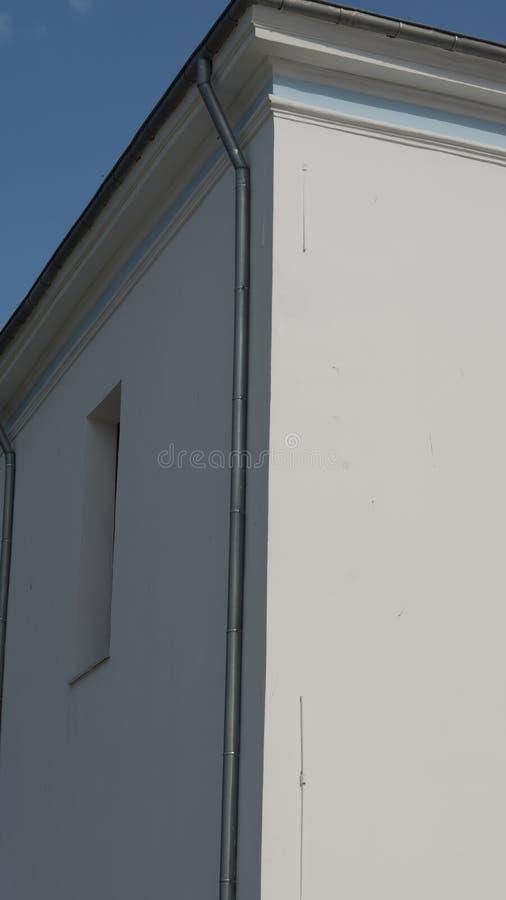 Reinweiß-Gebäude lizenzfreie stockfotografie