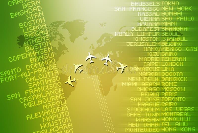 Reis 02 van de wereld stock illustratie