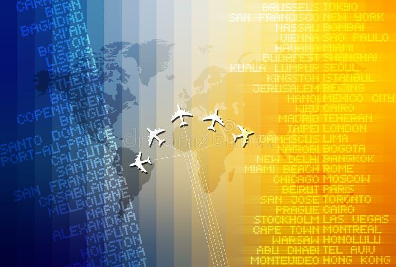 Reis 03 van de wereld vector illustratie
