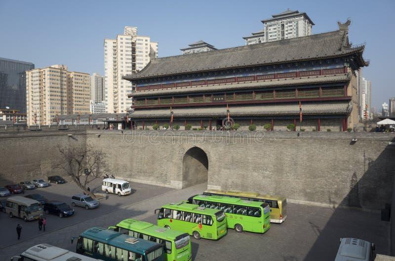 Reis aan Xi'an stock afbeelding
