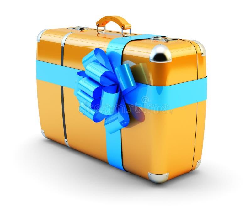 Reis als gift, reisaanbieding en concept van de huwelijksreis vector illustratie