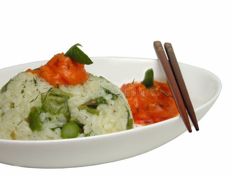 Reis auf einer Platte lizenzfreie stockbilder
