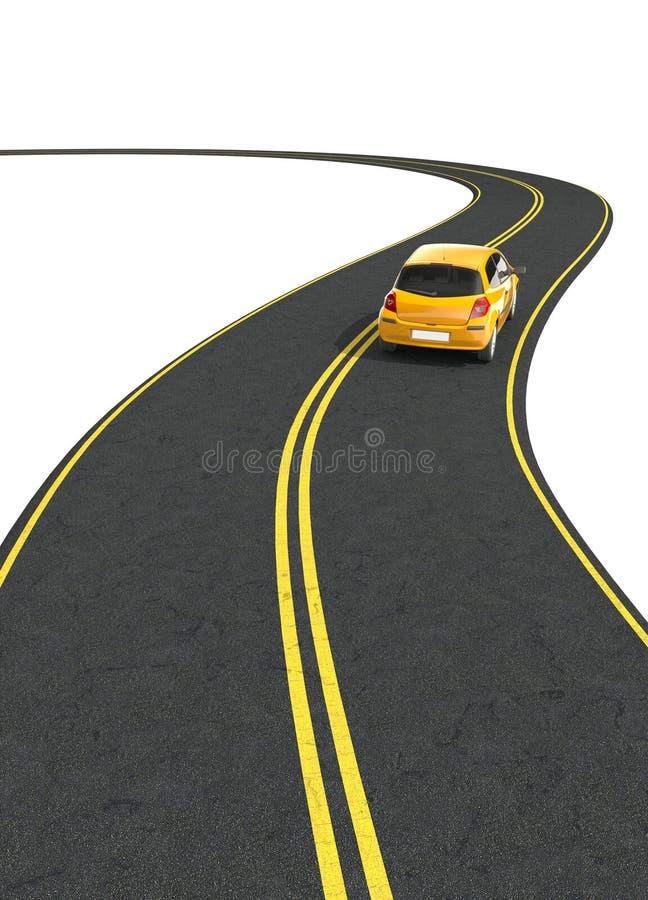 Reis in auto stock illustratie