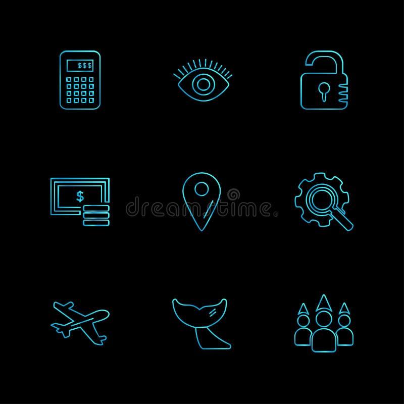 reis, bestemming, het winkelen, het terugstellen, kalender, eps pictogrammen s vector illustratie