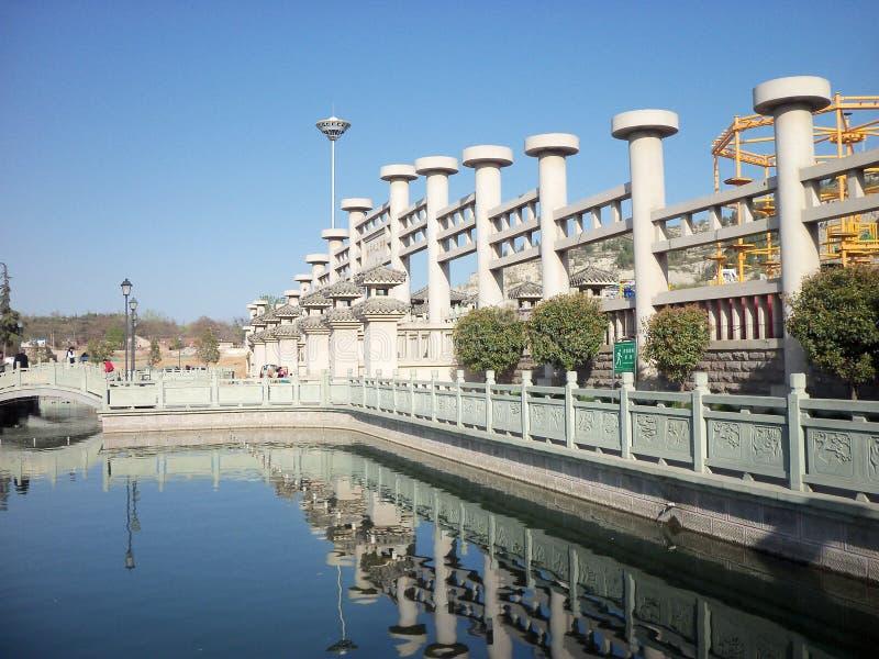 Reis in China, de lente en rivier stock afbeelding