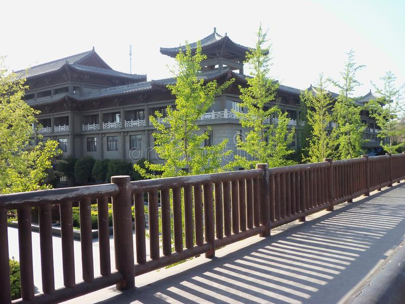 Reis in China, tempeltuin royalty-vrije stock foto
