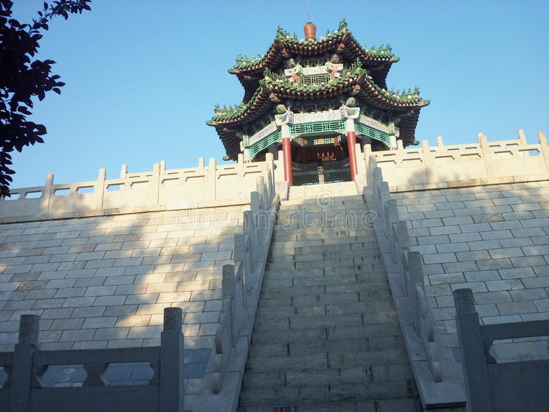 Reis in China, tempeltuin stock afbeeldingen