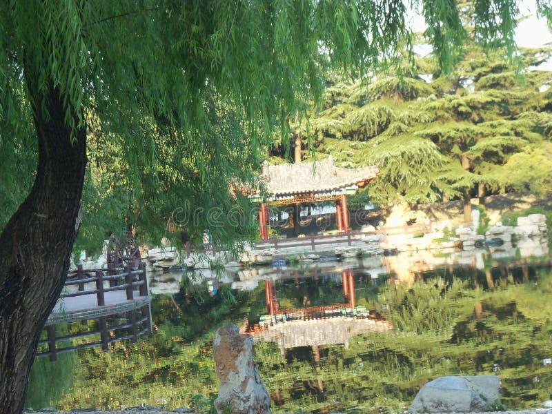 Reis in China, tempeltuin royalty-vrije stock afbeeldingen