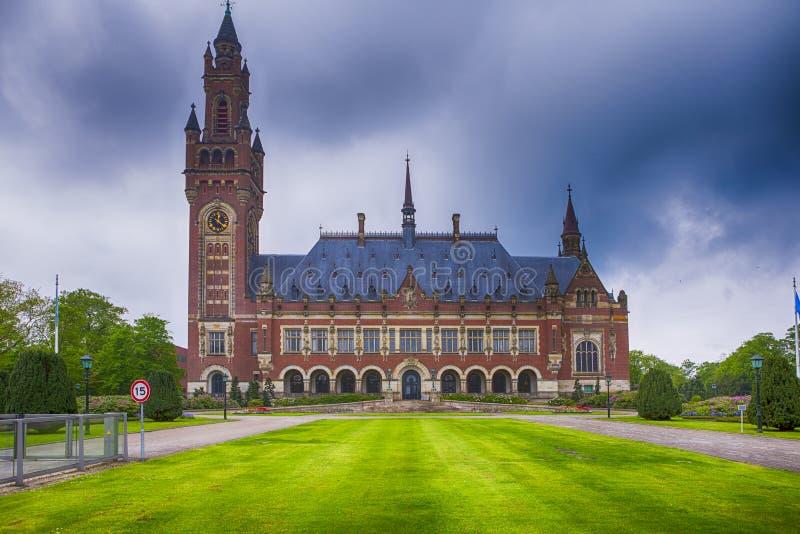 Reis Consepts Vredespaleis in Den Haag Hague stock fotografie