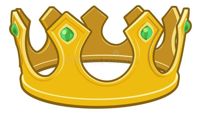Reis Coroa dos desenhos animados do ouro ilustração stock